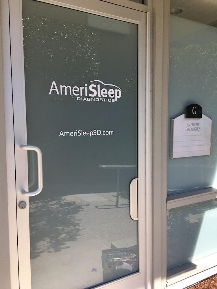 AmeriSleep branded logo on door