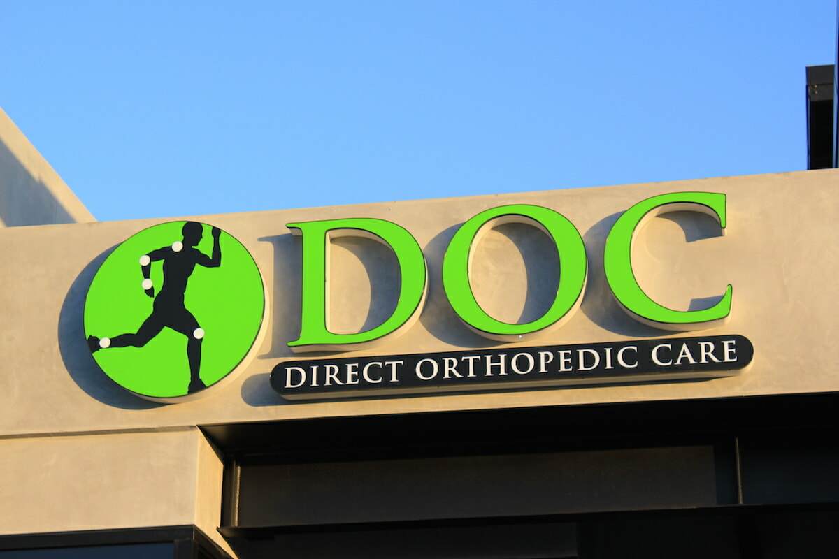 Direct Orthopaedic Care outdoor sign