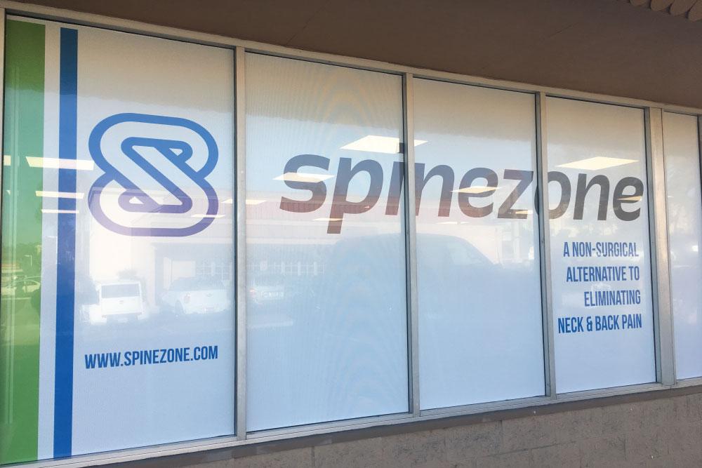 spinezone logo on windows